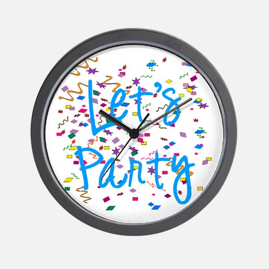 Let's Party Wall Clock