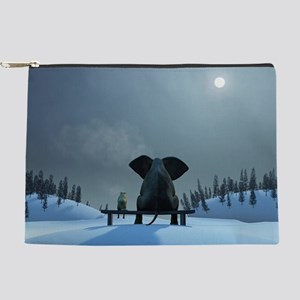 Dog and Elephant Friends Makeup Pouch