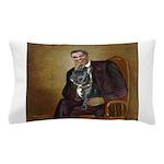 Obama - French Bulldog (BW-RedC) Pillow Case