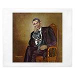 Obama - French Bulldog (BW-RedC) King Duvet