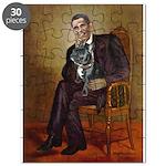 Obama - French Bulldog (BW-RedC) Puzzle