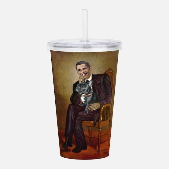 Obama - French Bulldog Acrylic Double-wall Tumbler