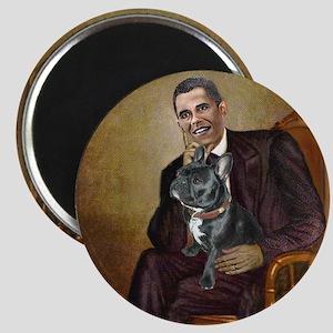 Obama - French Bulldog (BW-RedC) Magnet