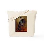Obama - French Bulldog (BW-RedC) Tote Bag
