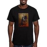 Obama - French Bulldog Men's Fitted T-Shirt (dark)