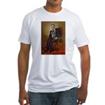 Obama - French Bulldog (BW-RedC) Fitted T-Shirt