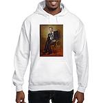 Obama - French Bulldog (BW-RedC) Hooded Sweatshirt