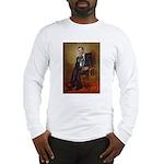 Obama - French Bulldog (BW-Red Long Sleeve T-Shirt