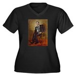 Obama - Fren Women's Plus Size V-Neck Dark T-Shirt