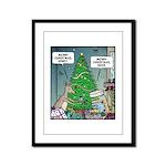 Merry Christmas Honey Deer Framed Panel Print