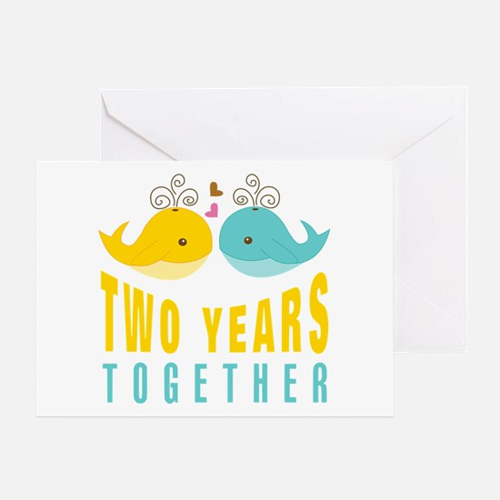 2nd aniversary celebration Greeting Card