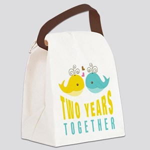2nd aniversary celebration Canvas Lunch Bag