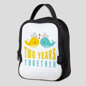 2nd aniversary celebration Neoprene Lunch Bag