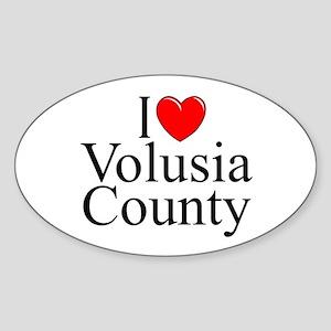"""""""I Love Volusia County"""" Oval Sticker"""