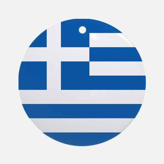 Flag of Greece Ornament (Round)