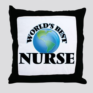 World's Best Nurse Throw Pillow