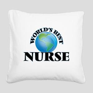 World's Best Nurse Square Canvas Pillow