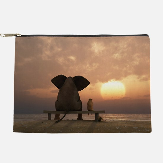 Elephant and Dog Friends Makeup Pouch