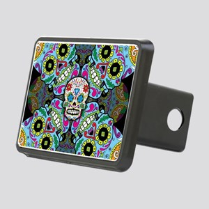 Sugar Skulls Rectangular Hitch Cover