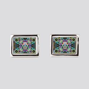 Sugar Skulls Rectangular Cufflinks