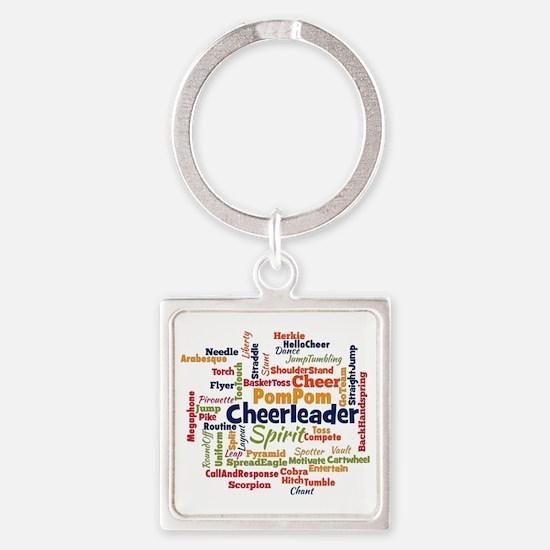 Cheerleading Word Cloud Keychains