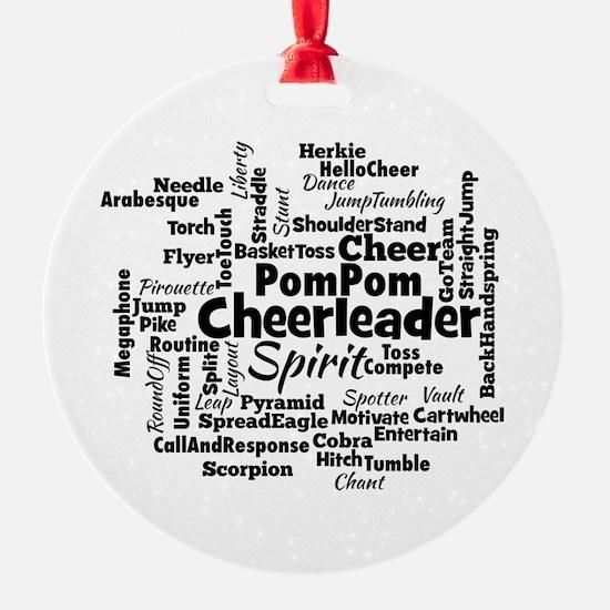 Cheerleading Word Cloud Ornament