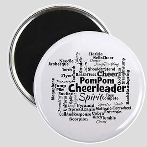 Cheerleading Word Cloud Magnets
