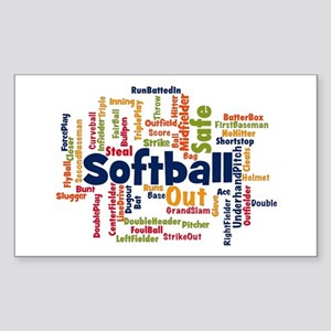 Softball Word Cloud Sticker