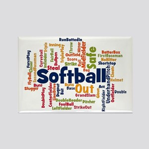Softball Word Cloud Magnets