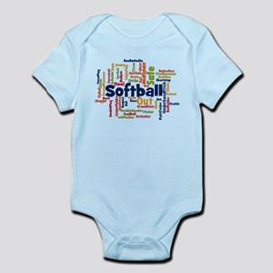 Softball Word Cloud Body Suit