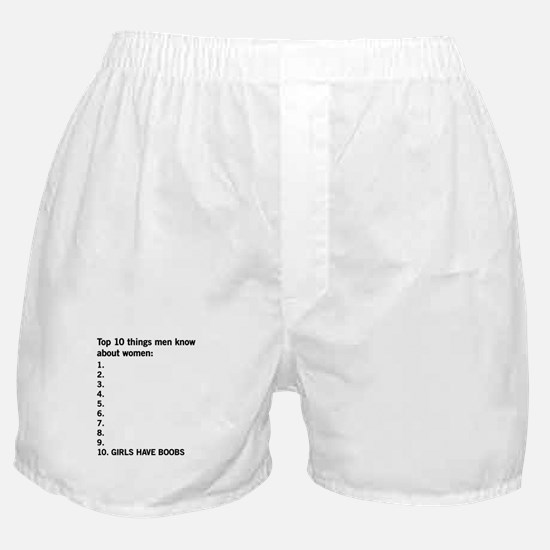 10 things men know about women Boxer Shorts