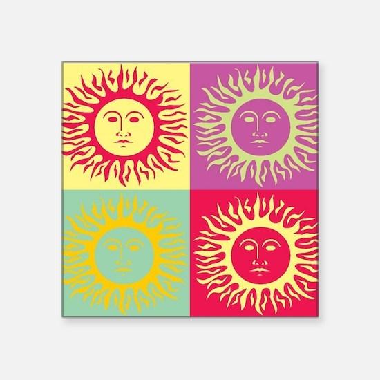 Pop art Sun face Sticker