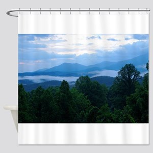 Early Morning Smoky Mountains Shower Curtain