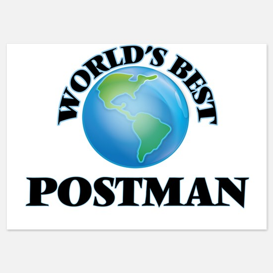 World's Best Postman Invitations