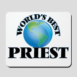 World's Best Priest Mousepad