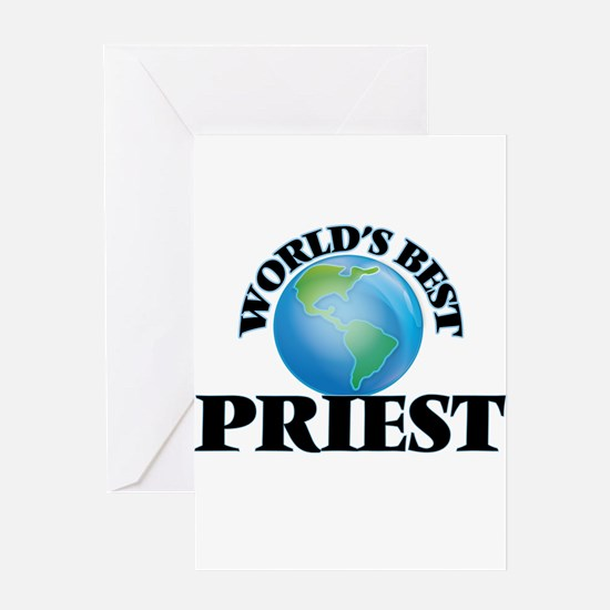 World's Best Priest Greeting Cards