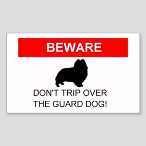 Dont Trip Over the Guard Dog Sheltie Sticker