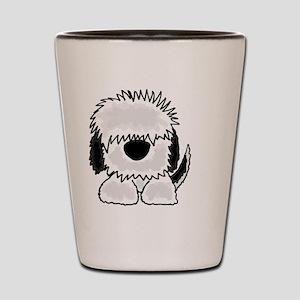 Sheepdog Cartoon Shot Glass