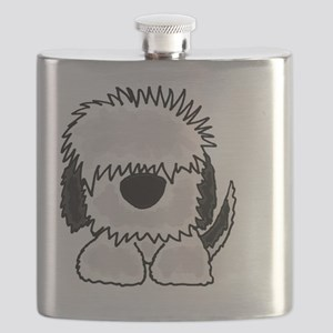 Sheepdog Cartoon Flask