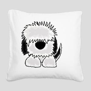 Sheepdog Cartoon Square Canvas Pillow