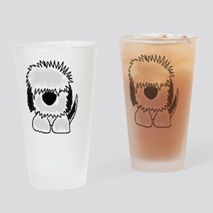 Sheepdog Cartoon Drinking Glass