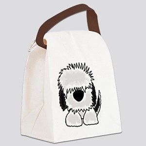 Sheepdog Cartoon Canvas Lunch Bag