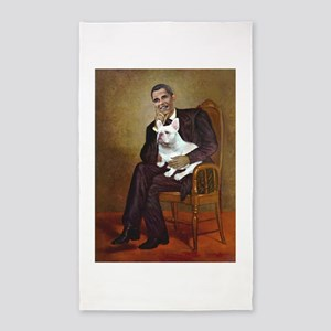 Obama-French BD (W) 3'x5' Area Rug