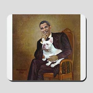 Obama-French BD (W) Mousepad