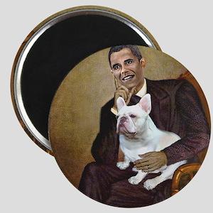 Obama-French BD (W) Magnet