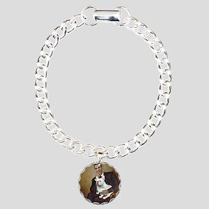 Obama-French BD (W) Charm Bracelet, One Charm