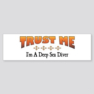 Trust Deep Sea Diver Bumper Sticker