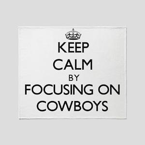 Keep Calm by focusing on Cowboys Throw Blanket