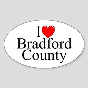 """I Love Bradford County"" Oval Sticker"