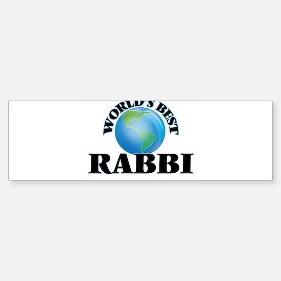 World's Best Rabbi Bumper Bumper Bumper Sticker